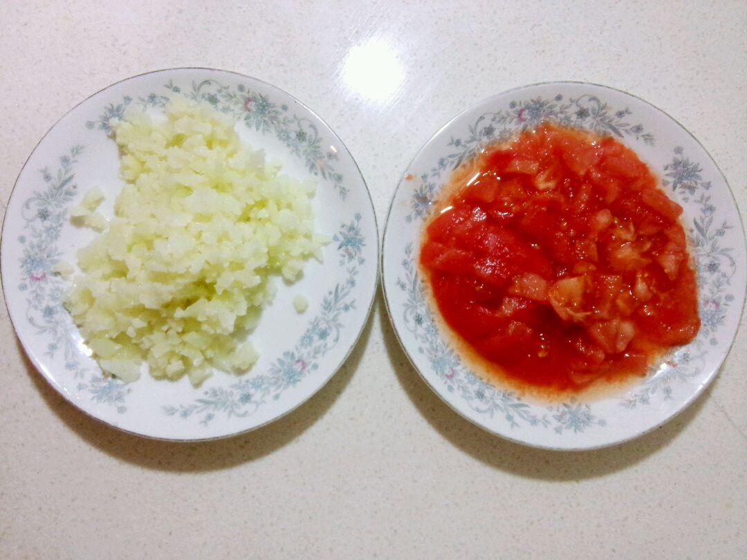 西红柿菜花鸡蛋面--宝宝辅食的做法步骤