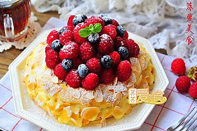 为爱人打造浪漫唯美的甜品【巴黎车轮泡芙蛋糕】