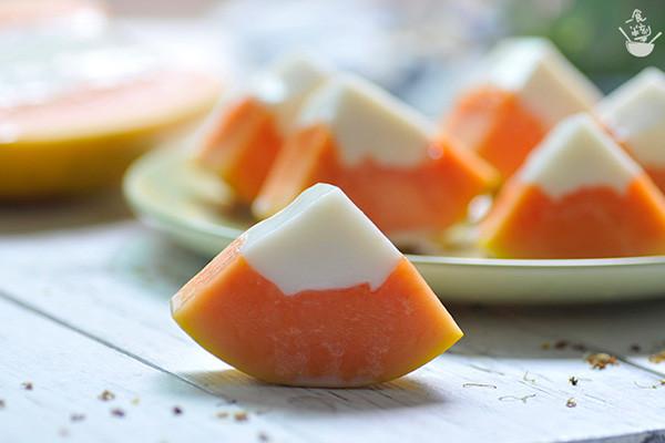 #木瓜熟了#木瓜椰奶冻的做法