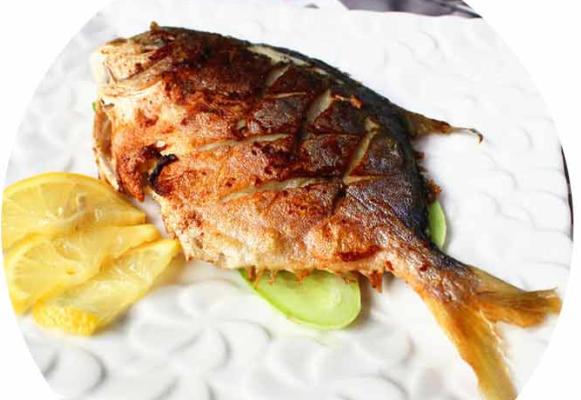 柠檬烤金鲳鱼