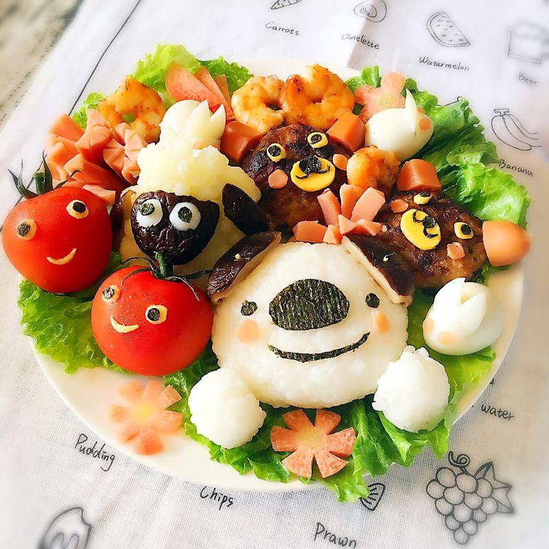 六一儿童餐-小熊肉饼