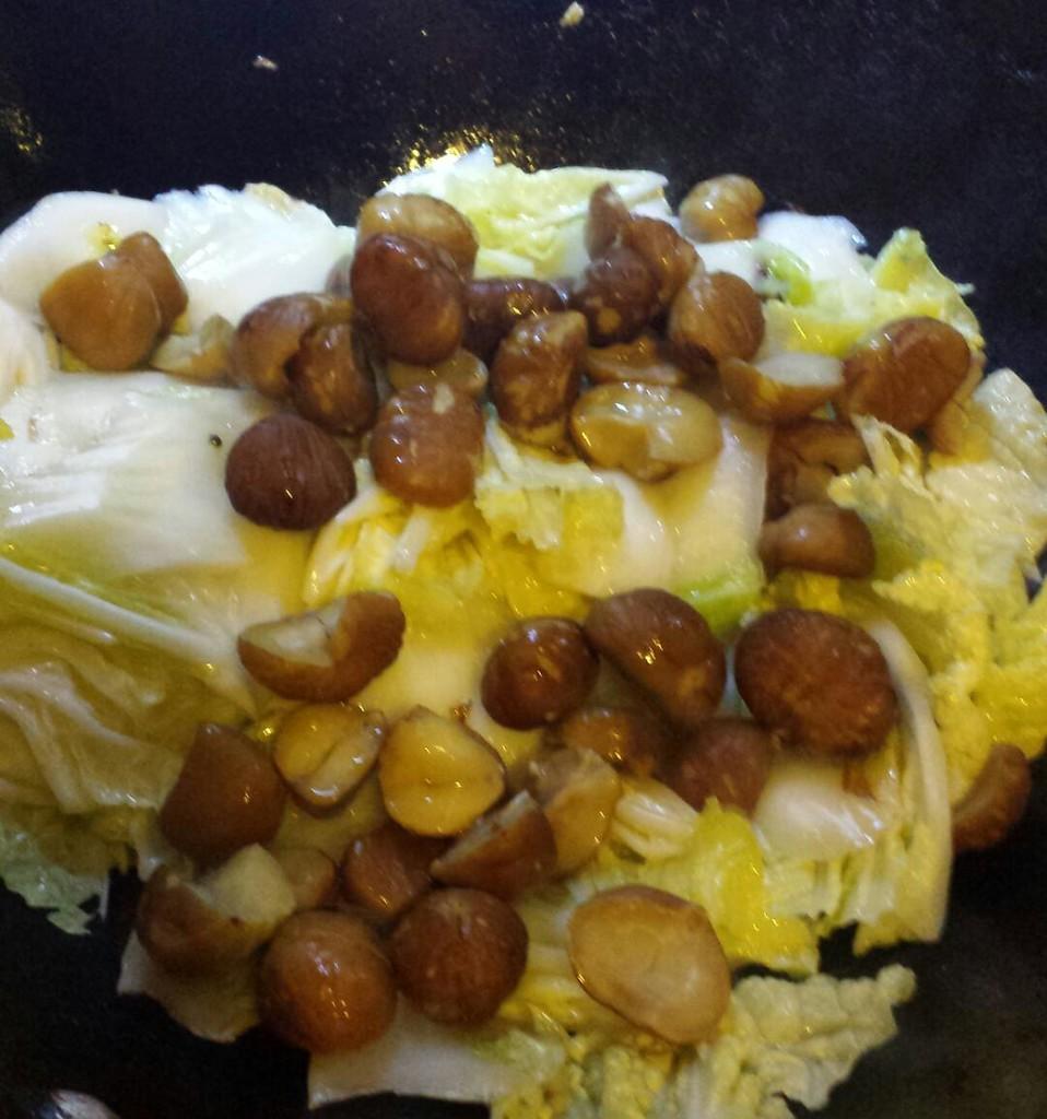 栗子烧白菜的做法图解5
