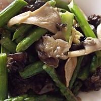 小炒芦笋蘑菇木耳~~-春季美食