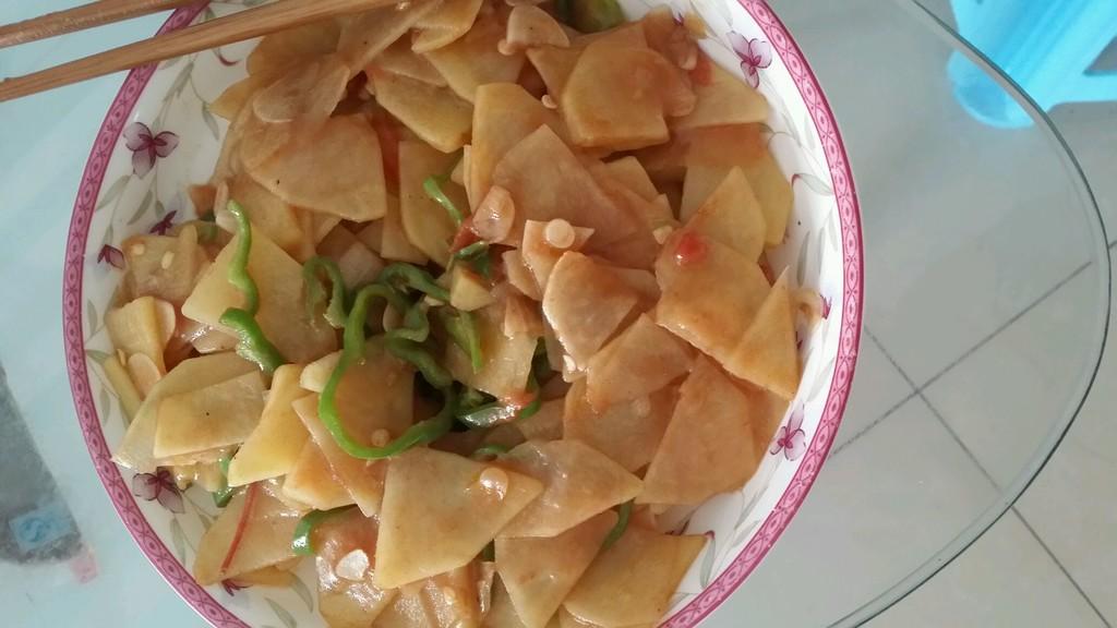 素炒土豆片的做法_【圖解】素炒土豆片怎么做如何做