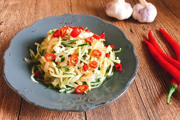 夏日开胃凉菜 老醋蜇皮 简单快手 酸辣刺激味蕾的做法