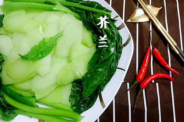 白灼芥兰/芥蓝【抗癌王、强抗氧化】素菜素食蔬菜的做法