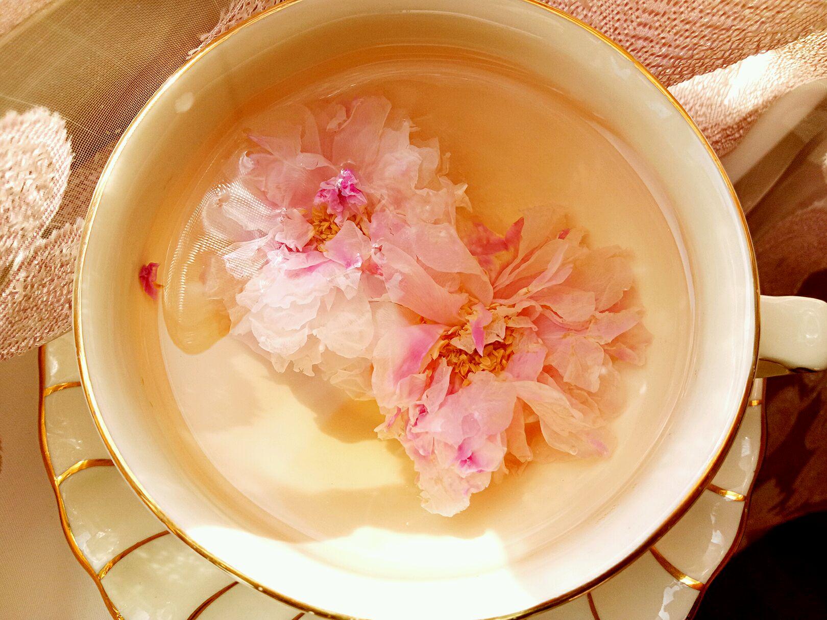 清香淡雅     主料 玫瑰花2颗 热水300ml 玫瑰花茶的做法步骤