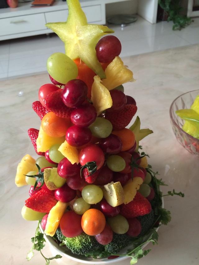 水果圣诞树的做法图解4