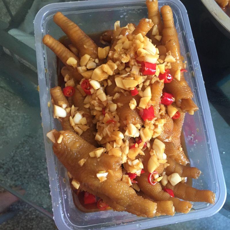 鸡精耗油菜谱蒜蓉和小米切好酸辣鸡爪的做法辣椒本步骤的烟熏肉和清椒怎么做图片