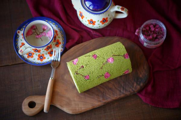 樱花抹茶蛋糕卷
