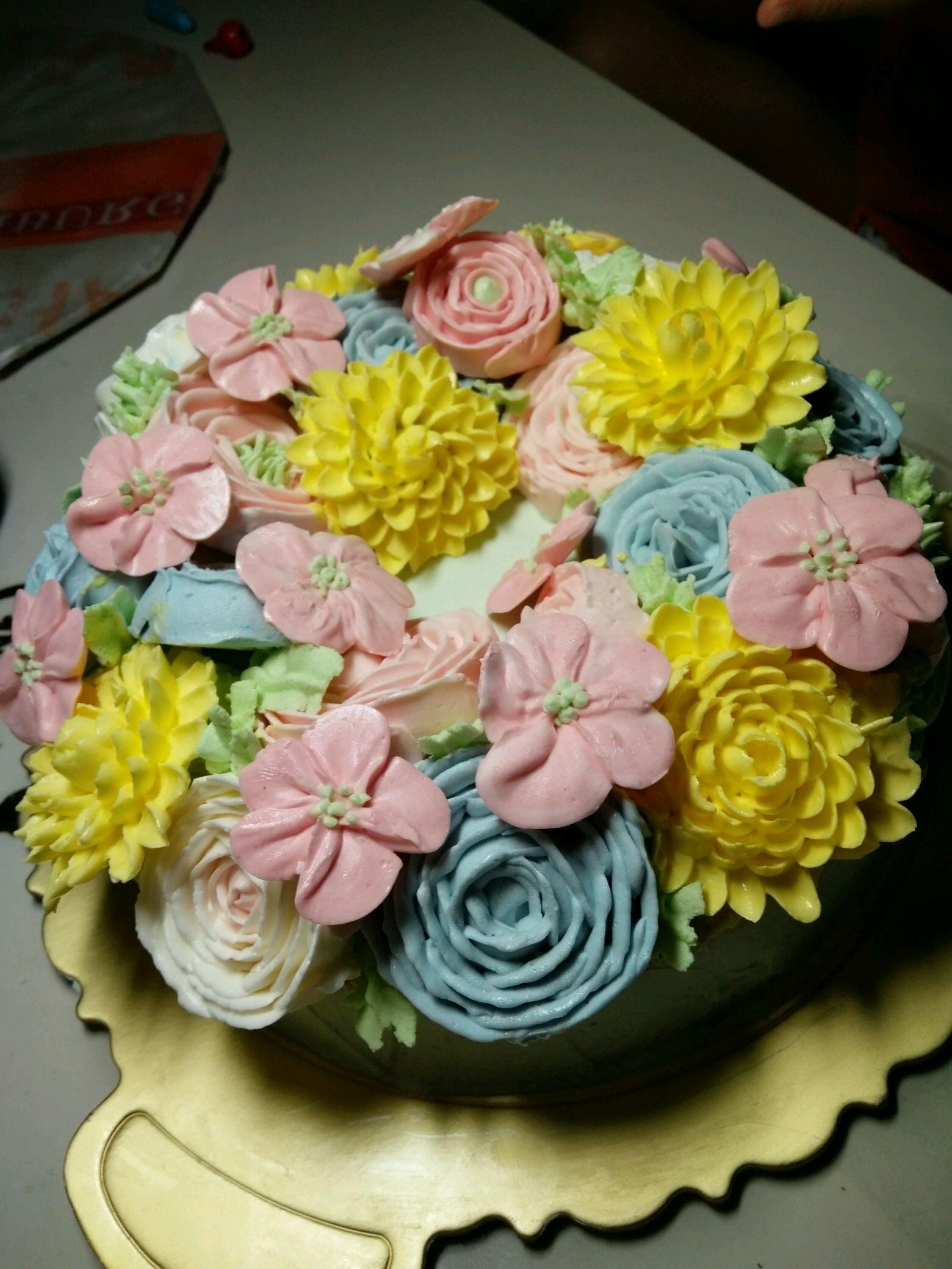韩式裱花蛋糕的做法步骤