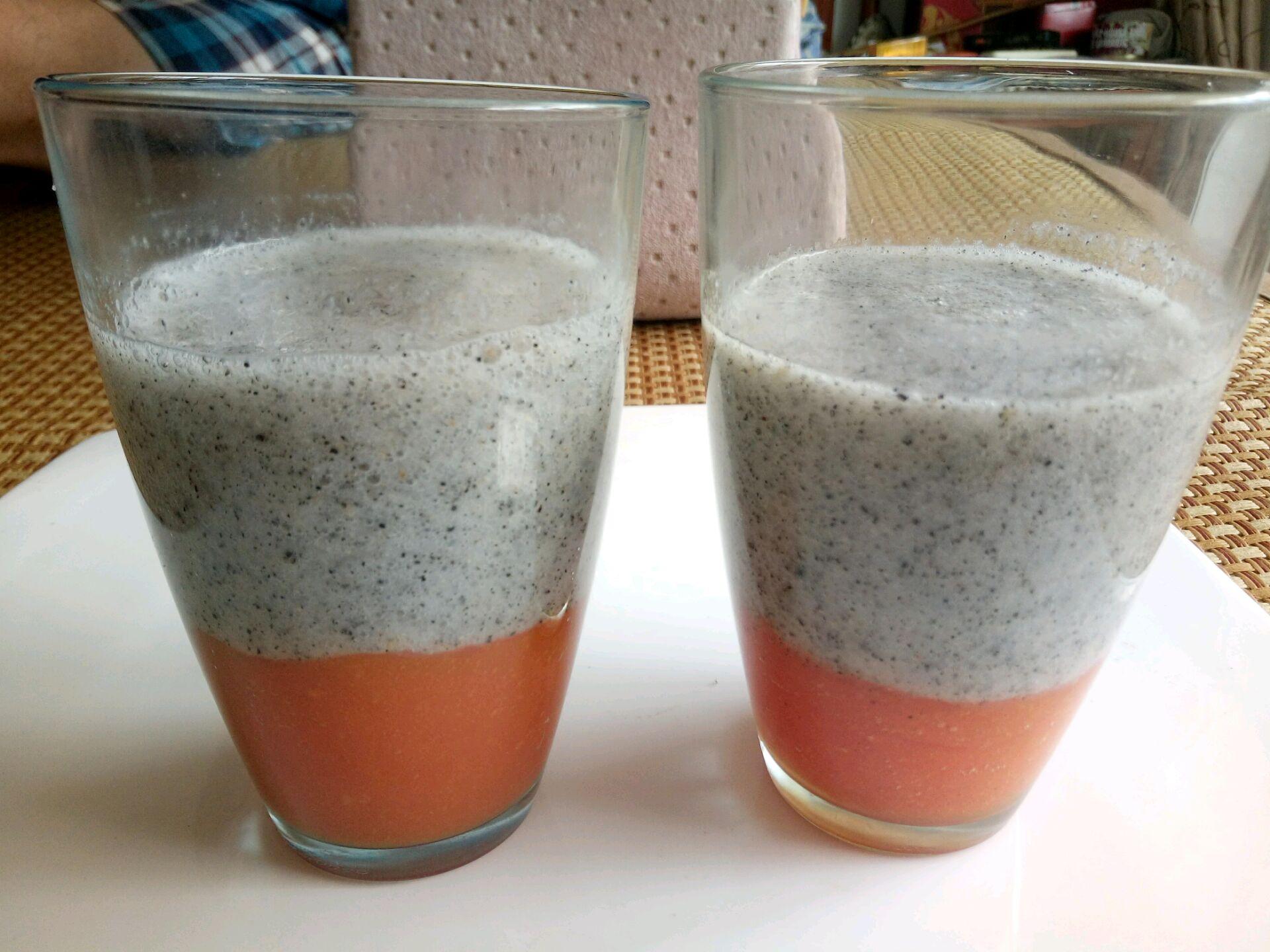 木瓜火龙果汁的做法步骤 3.
