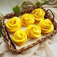南瓜玫瑰花馒头