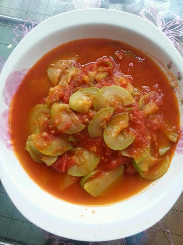 西葫芦烩番茄的做法