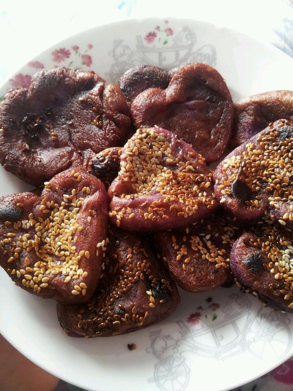 咸香紫薯饼的做法
