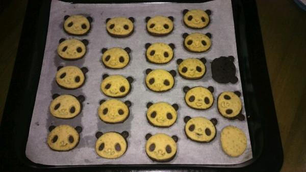 儿子幼儿园要小朋友准备零食分享,自己烘焙的熊猫饼干,低糖少油无添加
