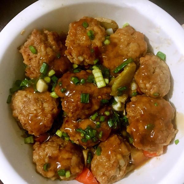 我的美食我的爱好的蒸肉丸子做法的v美食美食照旌德狗肉成果图片