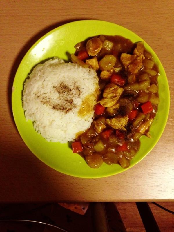 鸡肉咖喱饭的做法