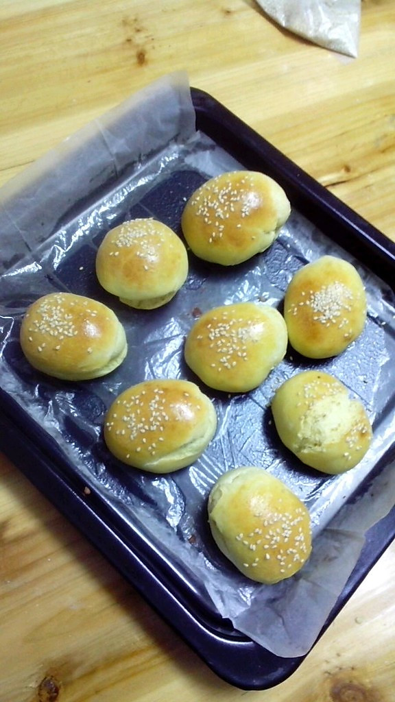 自制肉饼汉堡包的做法