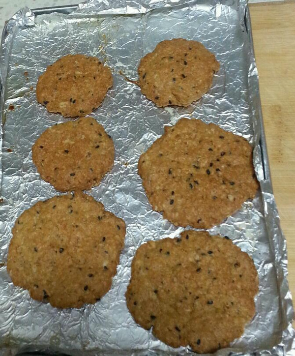 燕麦高纤饼的做法