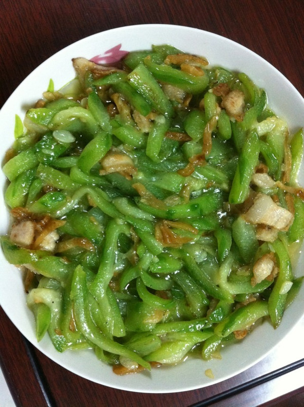 丝瓜肉沫炒菜埔的做法