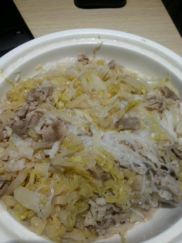 白菜粉丝羊肉汤的做法