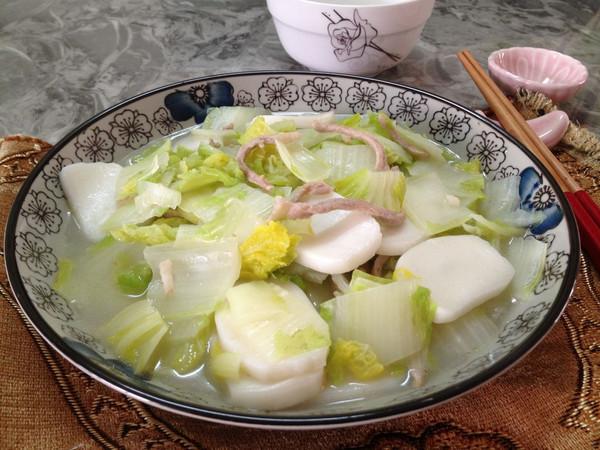 白菜年糕汤的做法