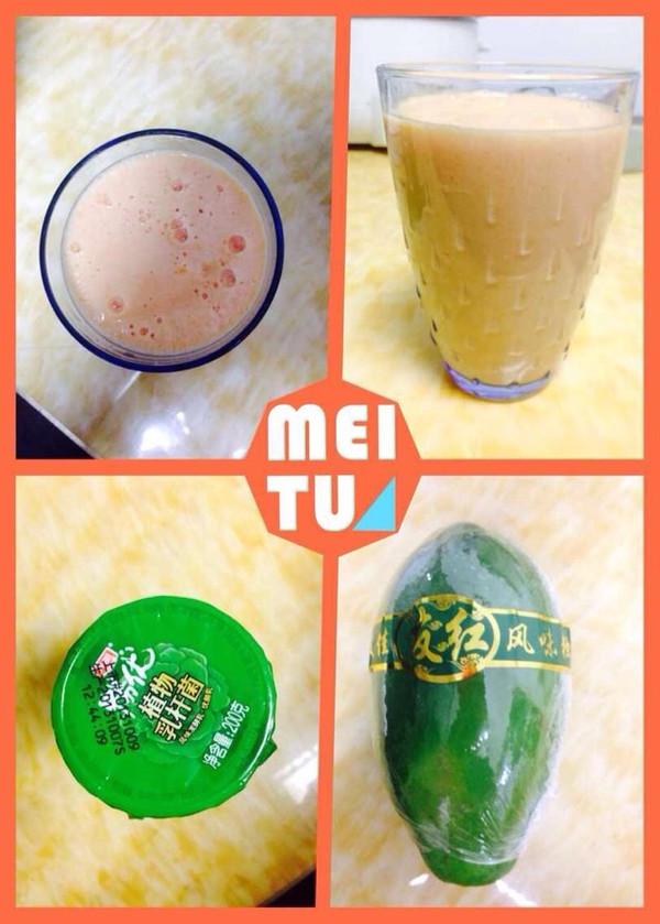 鲜榨木瓜牛奶汁的做法