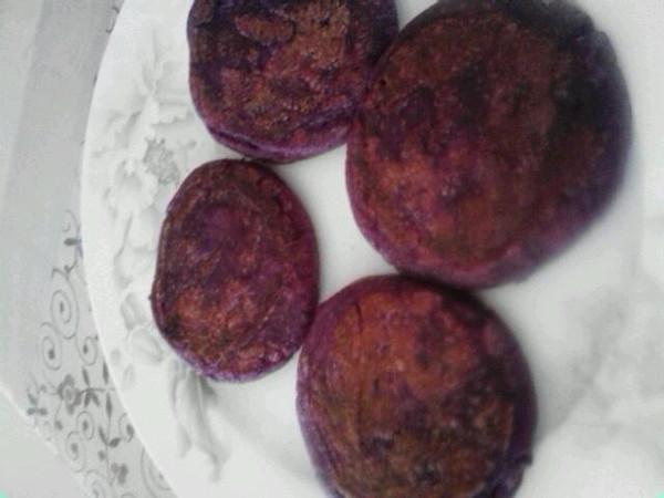平底锅煎紫薯饼的做法