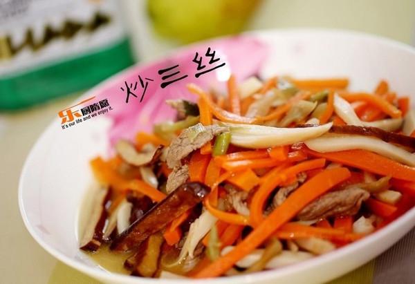 竹笋炒三丝的做法