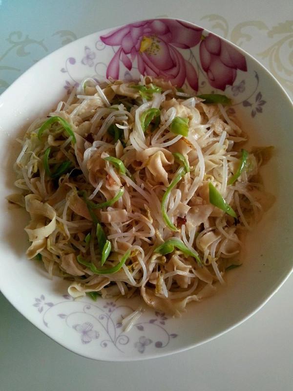 豆腐干拌绿豆芽的做法