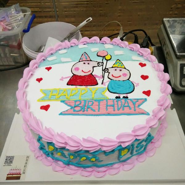 小猪佩奇卡通蛋糕