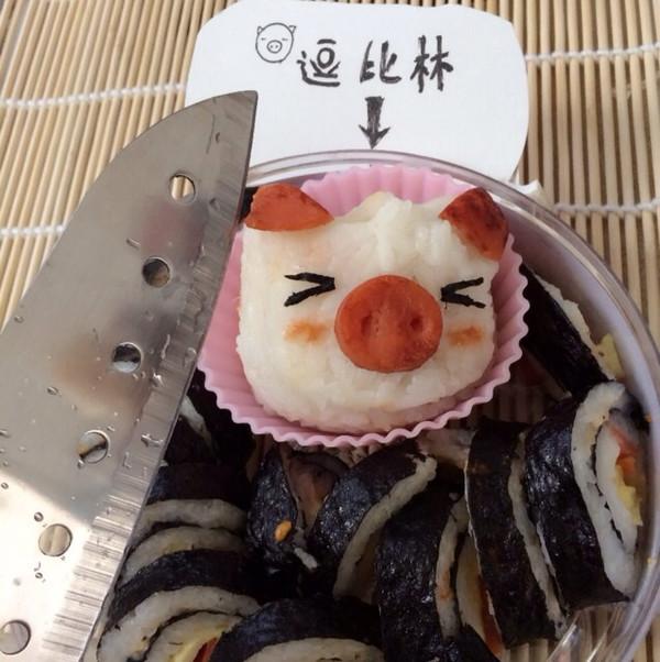 寿司加可爱小猪饭团