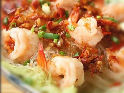 剁椒粉丝蒸虾的做法