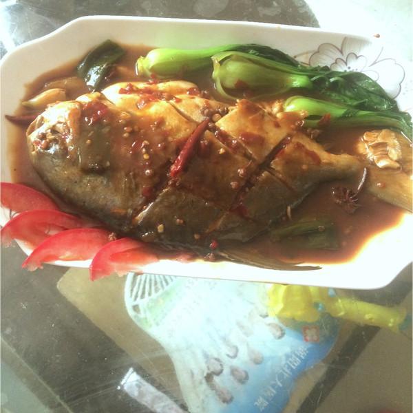 恩佑鲳鱼的红烧做法#嗨MilK出山奶油#食谱的怎样做妈妈饼图片