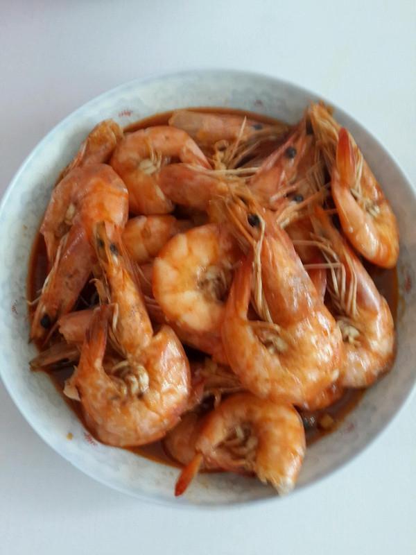 茄汁焖大虾的做法