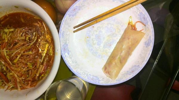 超好吃的春卷皮卷饼的做法