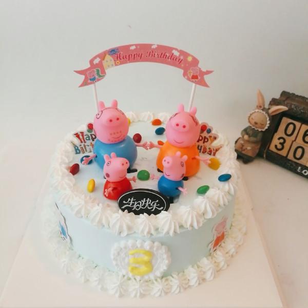 小猪佩奇情景蛋糕