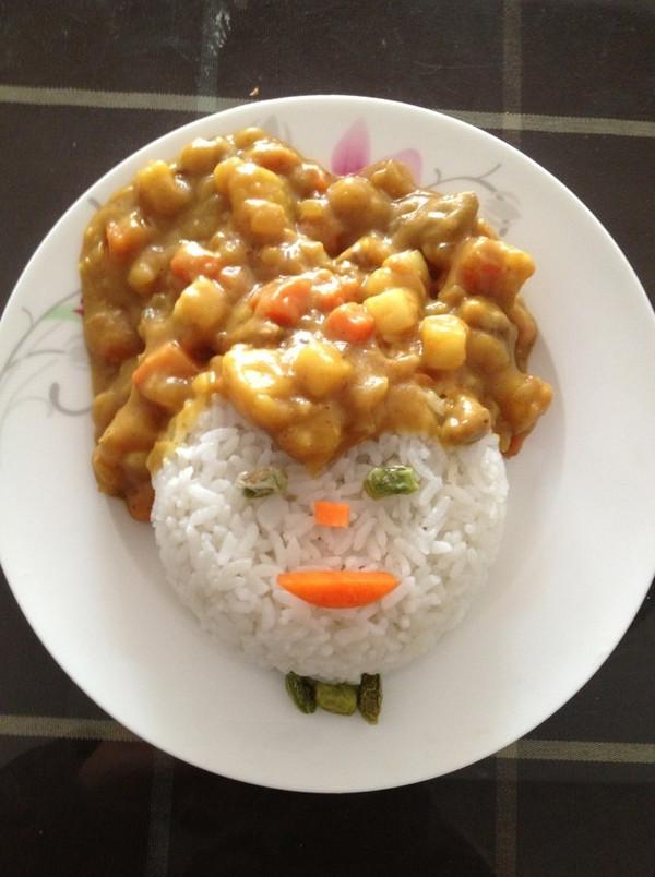 上班族妈妈的快手午餐——咖喱鸡肉饭的做法