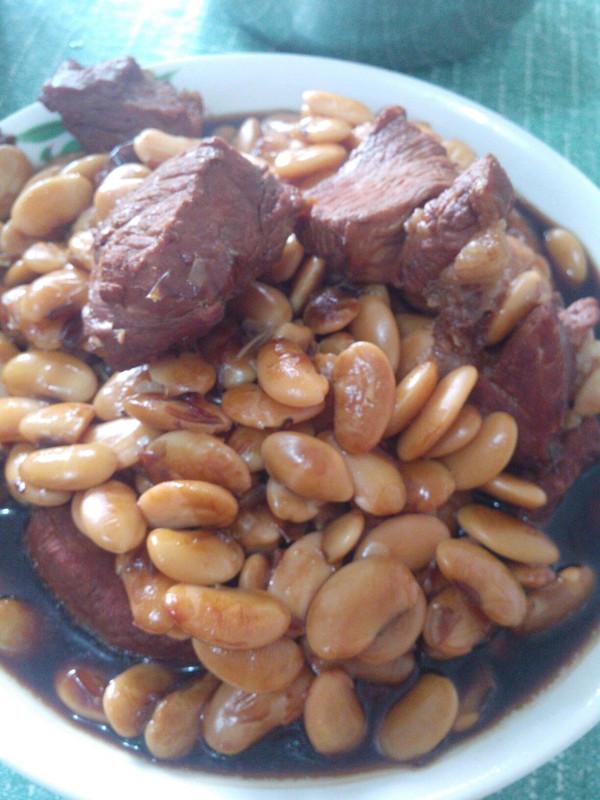 酥黄豆烧肉的做法