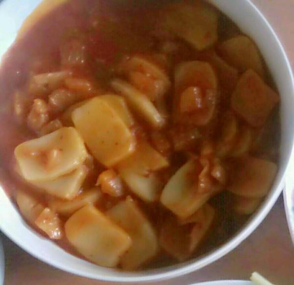 韩式辣白菜炒年糕的做法