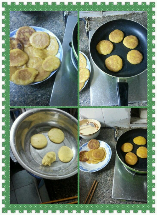 奶香南瓜煎饼的做法
