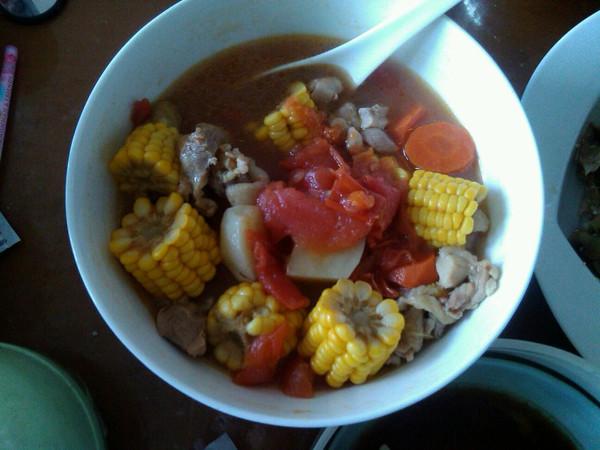 土豆番茄牛腱汤的做法