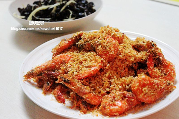 避风塘炒虾的做法