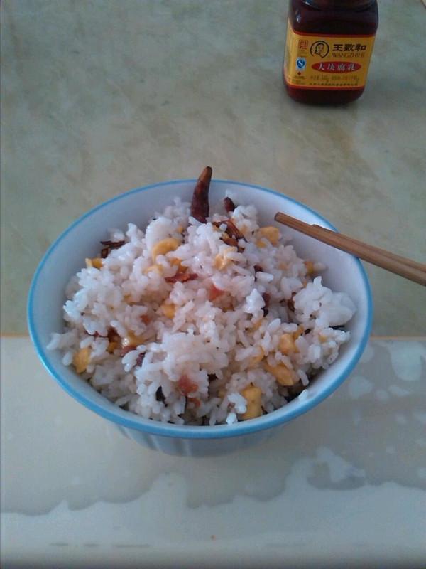 腊肉炒饭的做法