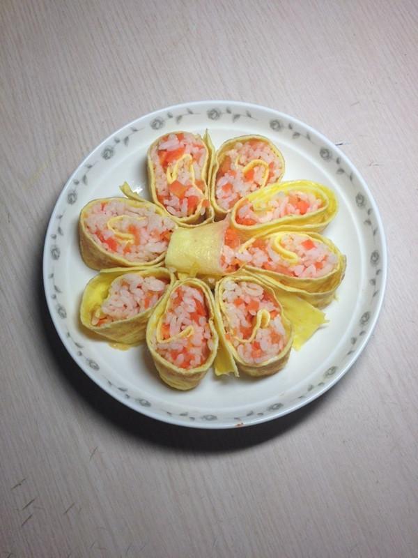 胡萝卜番茄饭卷的做法