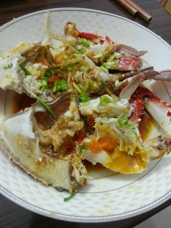 葱油白蟹的做法