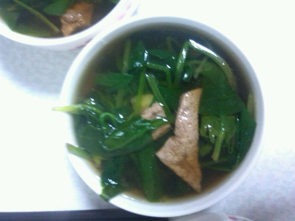 猪肝菠菜汤的做法