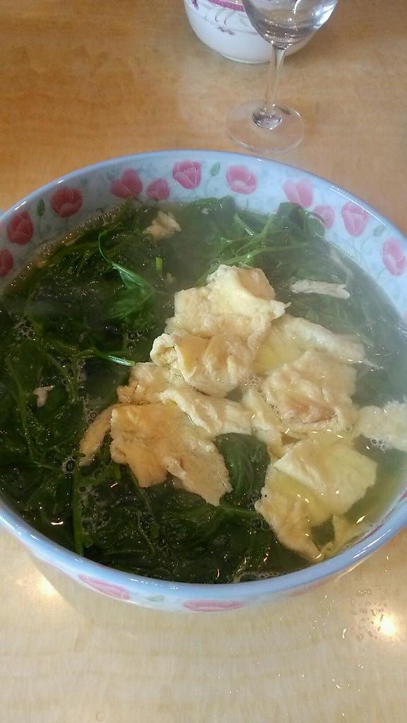 菊叶蛋汤的做法