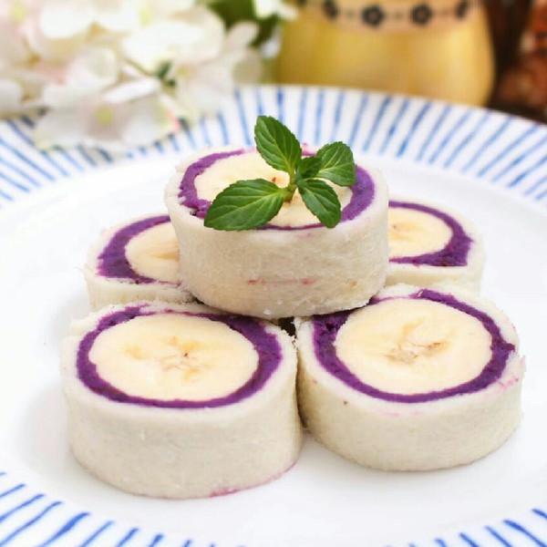 紫薯土司卷 宝宝辅食的做法